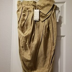 NWT 3.1 Philip Lim Gold Strapless Dress